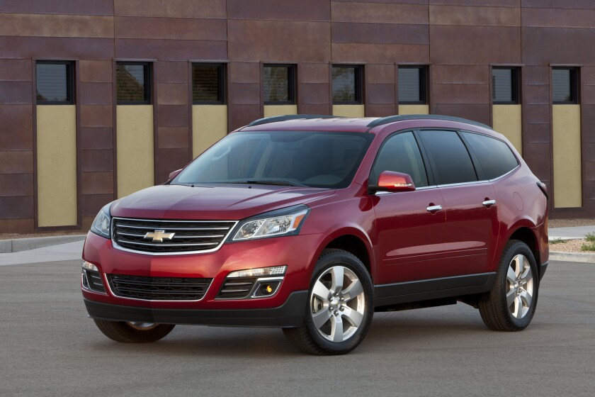 The 2014 Chevrolet Traverse was one of several GM vehicles included in Tuesday's recall of 2.42 million cars, trucks, and crossovers. Due to a potentially faulty seat belt, GM issued a stop-sale notice to dealers for this Traverse.