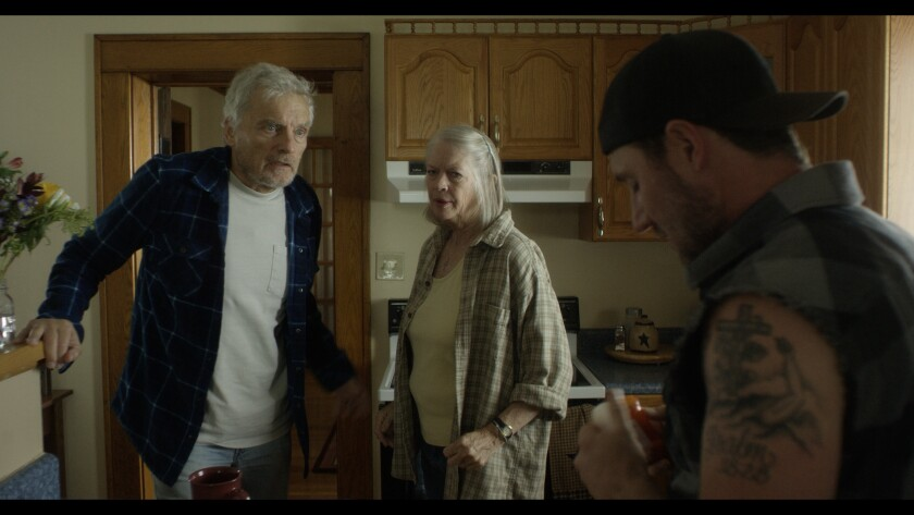 "(L-R)- David Selby, Dorothy Lyman and Josh Stewart in a scene from ""Back Fork."" Credit: Uncork'd Ent"