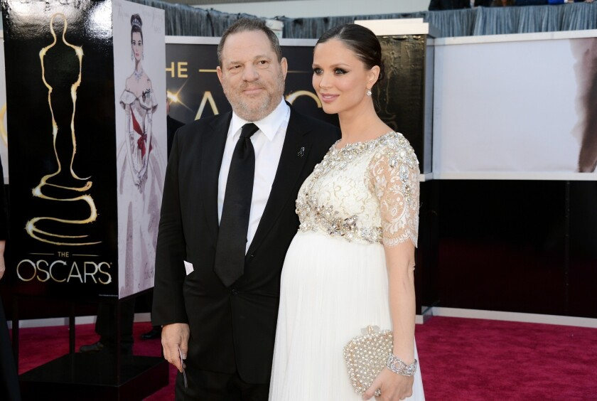 Harvey Weinstein and then-wife Georgina Chapman at the 2013 Oscars
