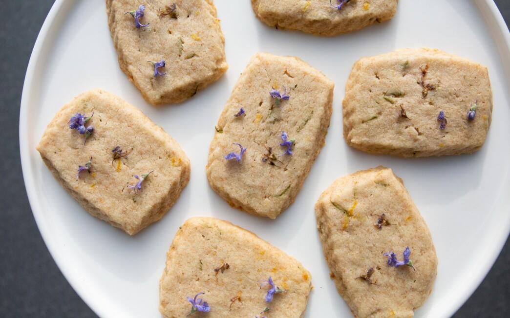 Lemon-Rosemary Shortbread Cookies