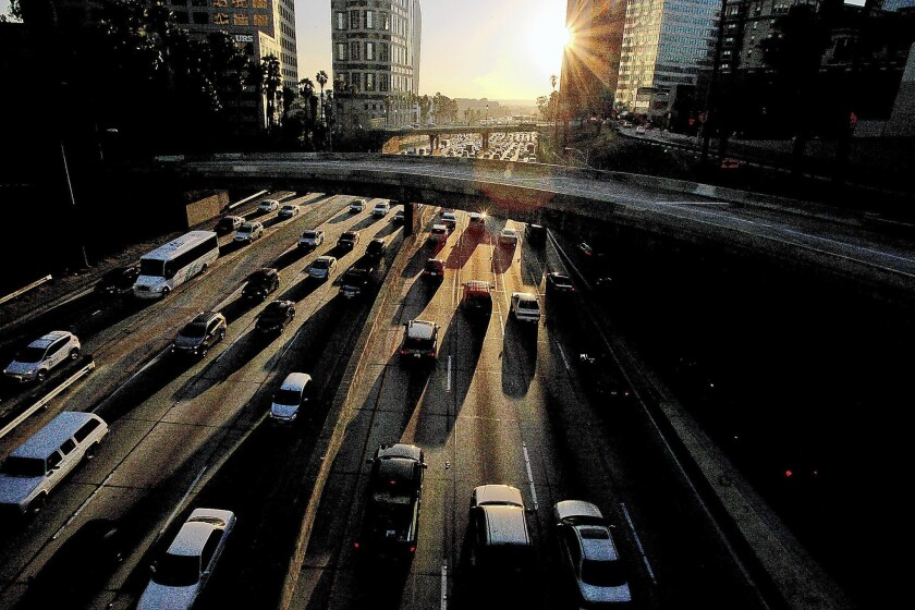 The 110 Freeway on a Friday afternoon in 2013.