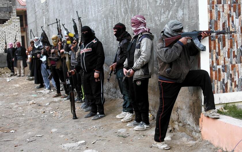 Fighters in Fallouja, Iraq