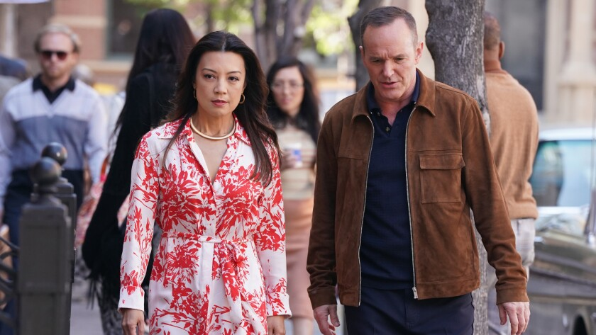 """Ming-Na Wen and Clark Gregg in """"Marvel's Agents of S.H.I.E.L.D."""" on ABC."""