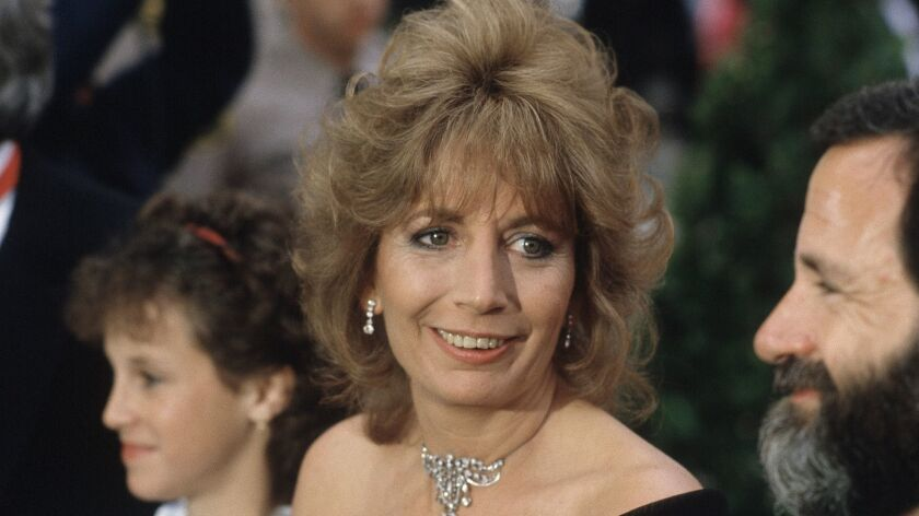 Penny Marshall arrives for the Academy Awards ceremony in Los Angeles on April 9, 1984.
