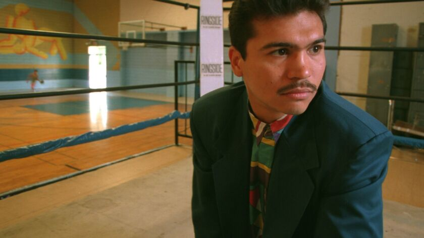 Paul Gonzalez, shown in 2003, trained in the Hollenbeck Youth Center in East LA before fighting in the 1984 Olympics.