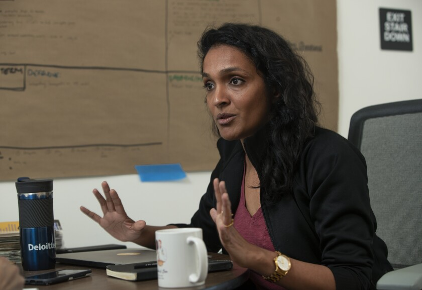 New Los Angeles City Councilwoman Nithya Raman, shown in January, wants the city to review its homeless outreach services.