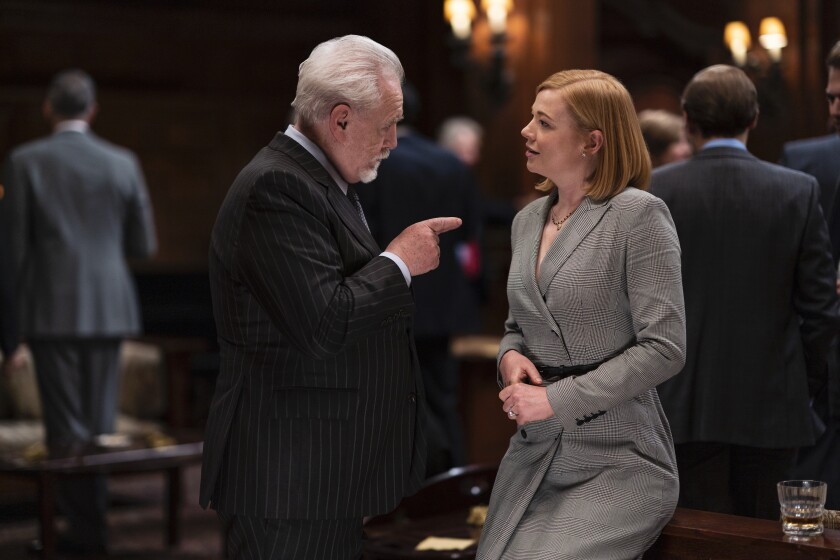 "Brian Cox and Sarah Snook star in HBO's hit drama ""Succession."""