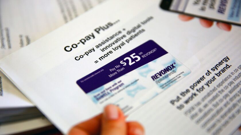 An example of a drug coupon, which one California bill seeks to clamp down on. The measure is one of several tackling prescription drug prices.
