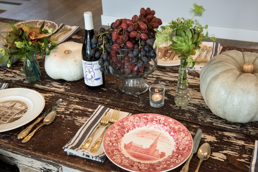 Thanksgiving tablescaping in the home of Robert and Cortney Novogratz.