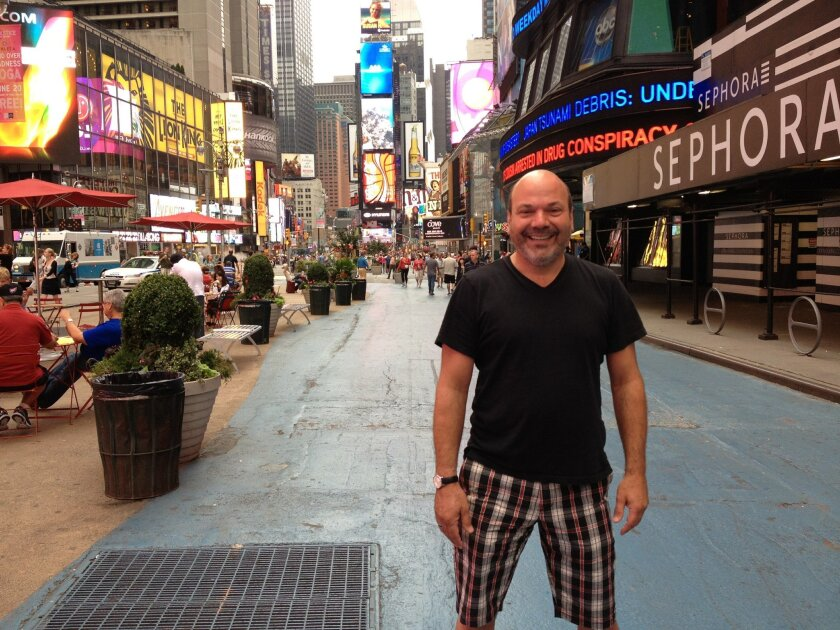 """""""Book of Mormon"""" co-director and choreographer Casey Nicholaw, on Broadway."""