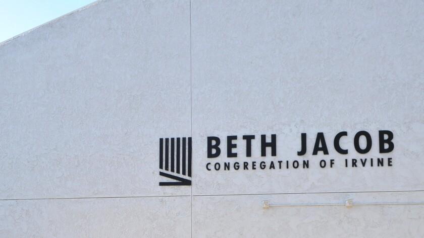 Anti-Semitic graffiti was scrawled on the Beth Jacob Congregation of Irvine on Wednesday in Irvine.