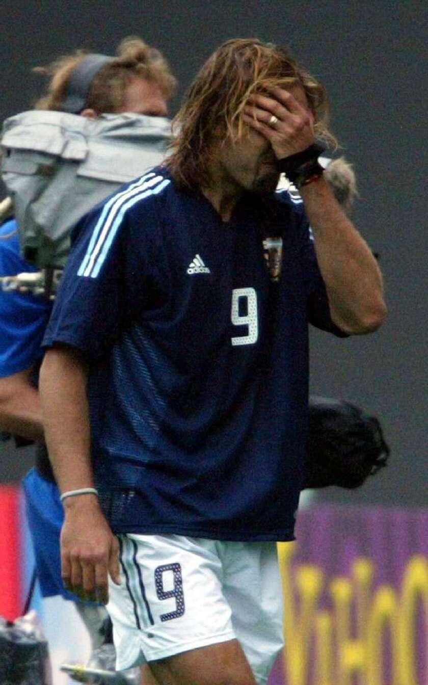 Argentina fue victima en el Mundial de 2002.