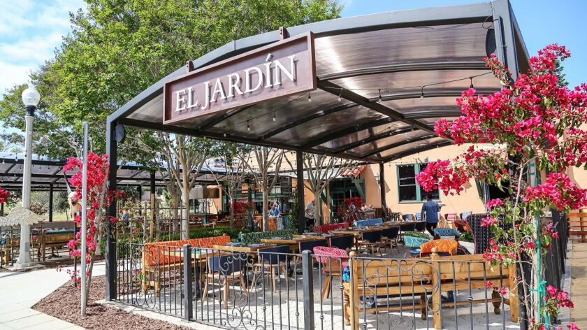 SAN DIEGO, CA June 28th, 2018 | This is El Jardin restaurant at Liberty Station featuring chef Claud