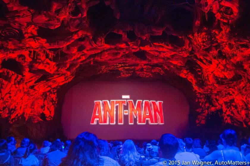 """""""Ant-Man"""" preview in the Bug's Life Theater at Disney California Adventure"""