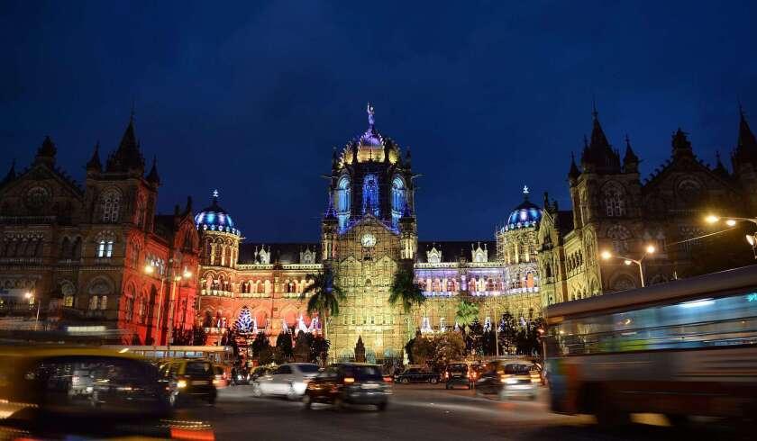 Chhatrapati Shivaji railway in Mumbai, India
