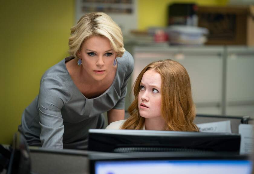"""Charlize Theron and Liv Hewson in """"Bombshell."""""""