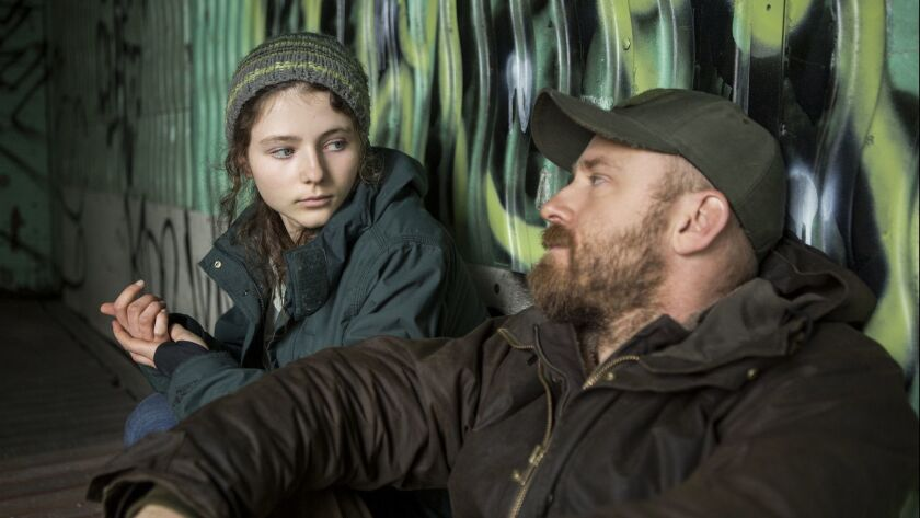 "Thomasin Harcourt McKenzie is Tom and Ben Foster her father Will in Debra Granik's ""Leave No Trace."""