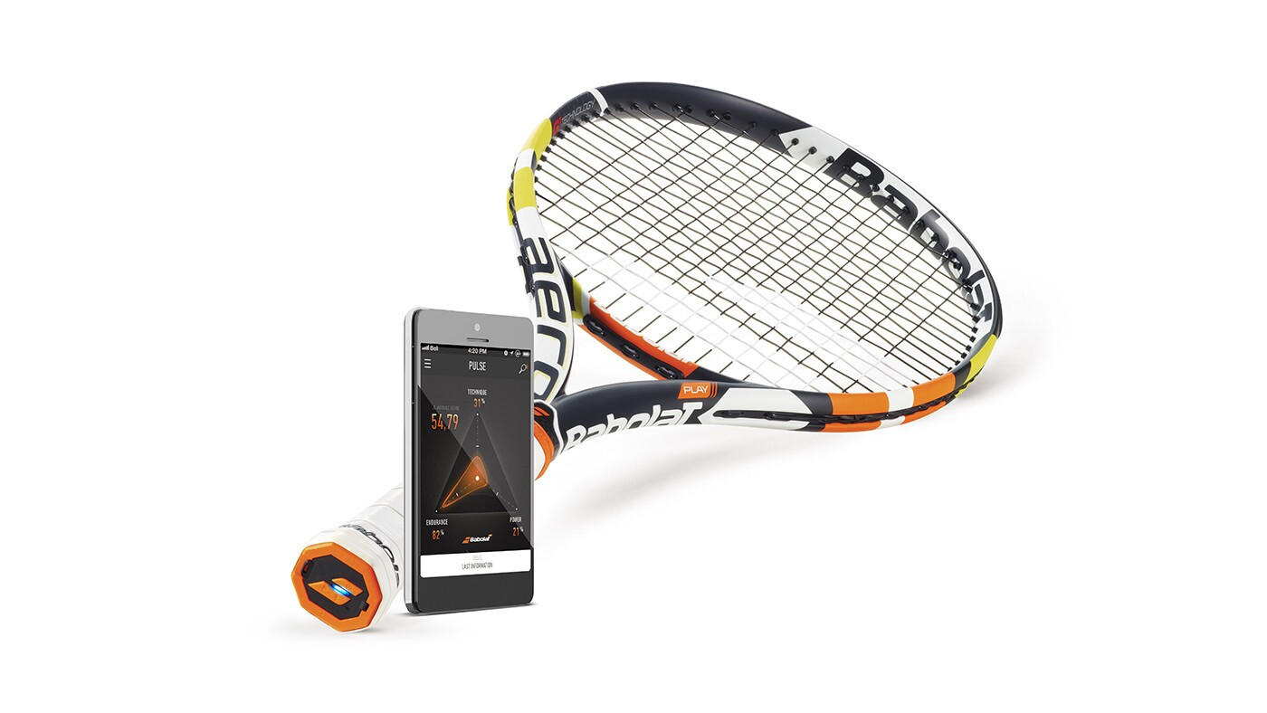 Sensors relay details such as shot power and how many ball strikes and their locations. You can also see how you stack up against friends and top players, including Rafael Nadal. Expected in stores soon, $349.