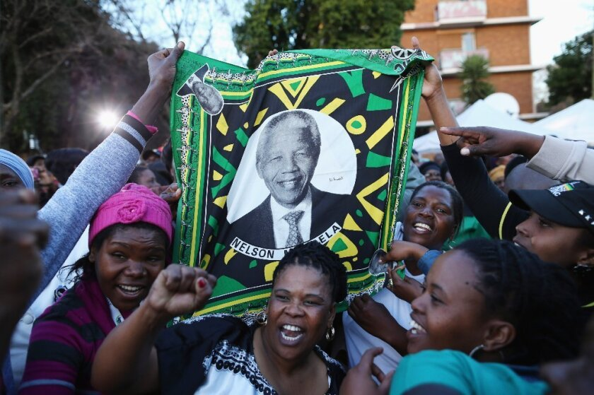 Supporters of Nelson Mandela