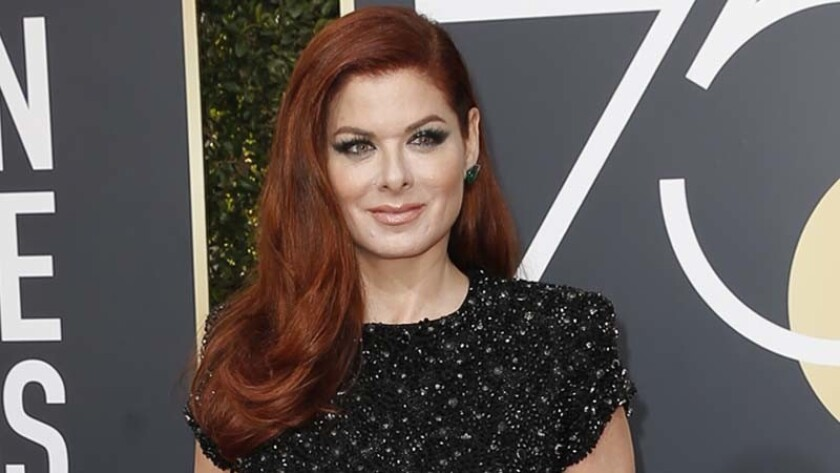 Debra Messing at the 2018 Golden Globes