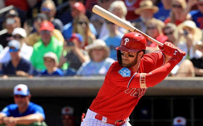 Bryce Harper has played in 123 of the Nationals' 124 games this season.