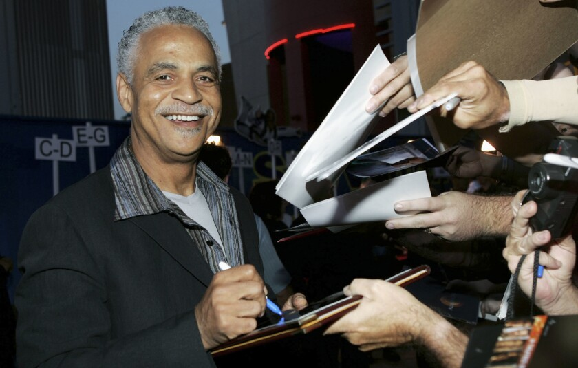 """Ron Glass, shown here at the 2005 premiere of """"Serenity"""" and known for his work on """"Barney Miller"""" and """"Firefly,"""" has died at 71."""