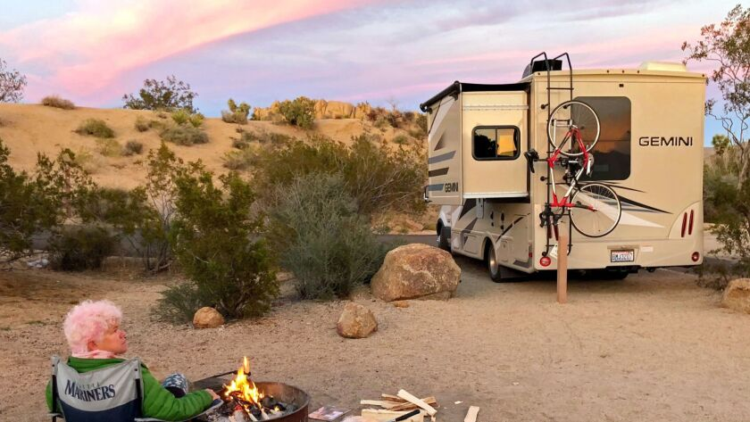 The Jumbo Rocks Campground at Joshua Tree National Park offers excellent sites amid the rock features.