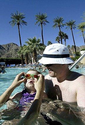 Everyone gets wet at La Quinta Resort resort near Palm Springs