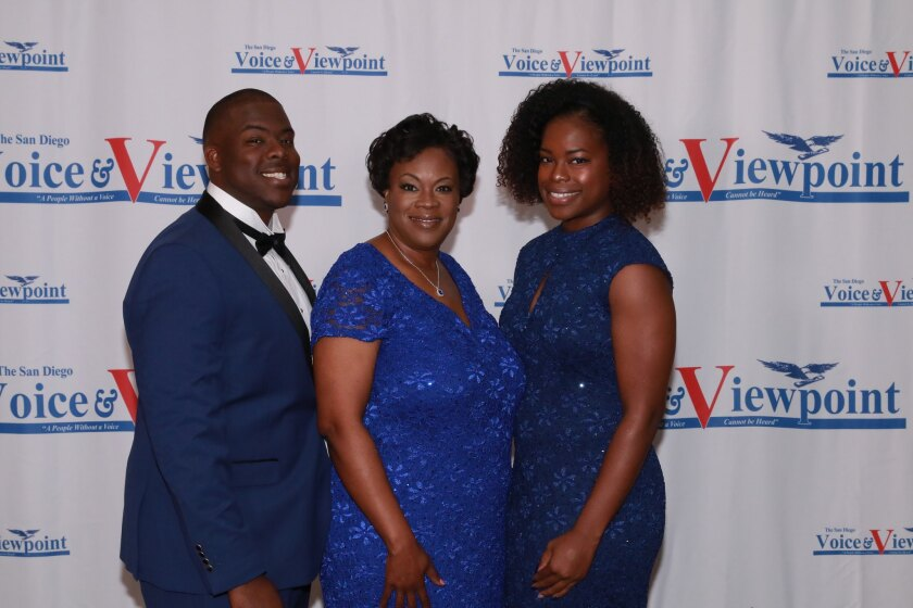Korral Taylor (right) with her mother, Francine Maxwell, (center), and brother Eugen Marble (left).