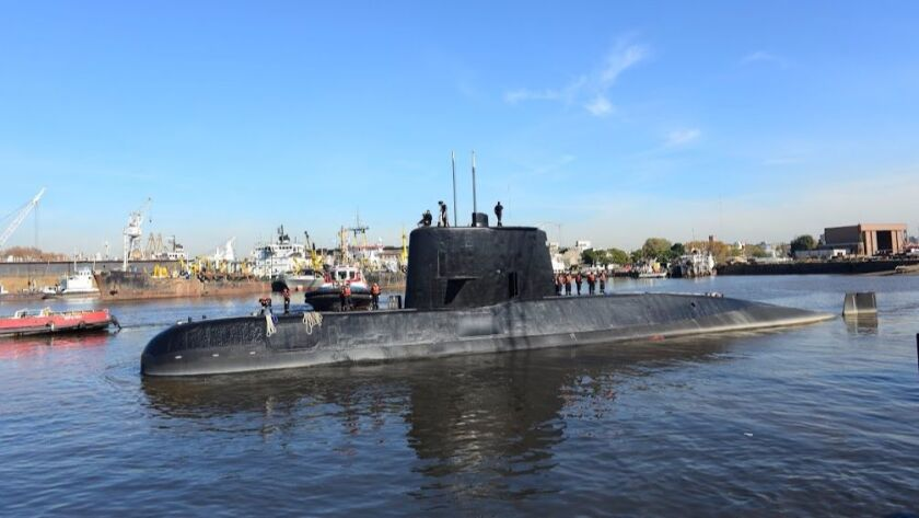 The submarine ARA San Juan, pictured in 2014, has been reported missing in the South Atlantic with a crew of 44 on board.