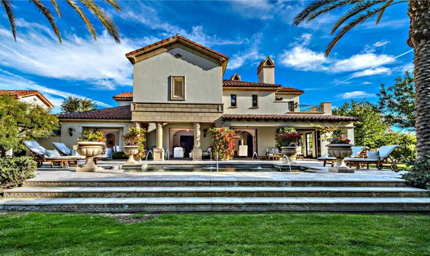 Sylvester Stallone's Mediterranean villa in La Quinta