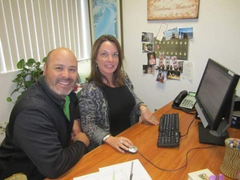 Carmel Valley Middle School Principal Laurie Brady and Assistant Principal Adam Camacho.
