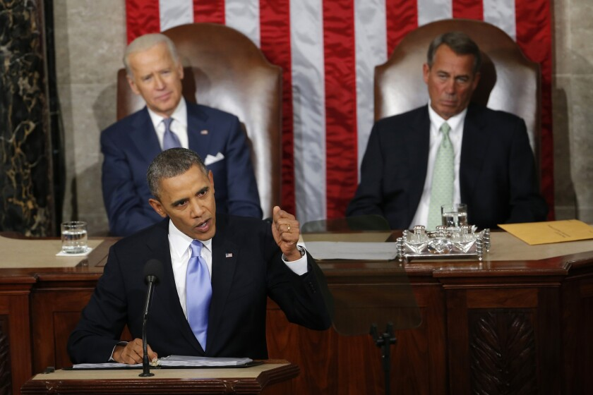 TV viewership for President Obama's speech in 2014 was the lowest for any State of the Union address since 2000.