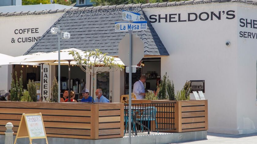 Sheldon's Service Station, a new cafe on La Mesa Boulevard, maintains its historic name.