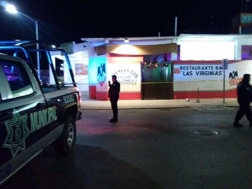 """Registro general del restaurante bar """"Las Virginias"""", en Playa del Carmen (estado mexicano de Quintana Roo), donde al menos seis personas fueron acribilladas por un grupo armado que se dió a la fuga. EFE"""