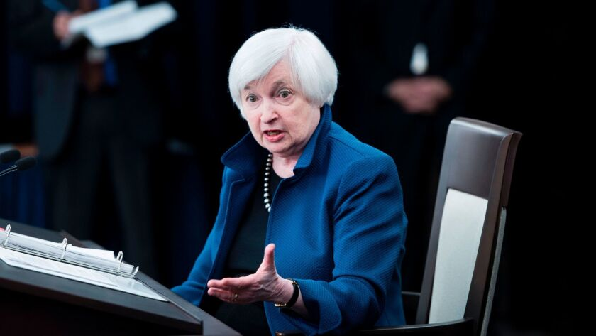 Federal Reserve Board Chairman Janet Yellen speaks during a briefing on March 15, 2017 in Washington