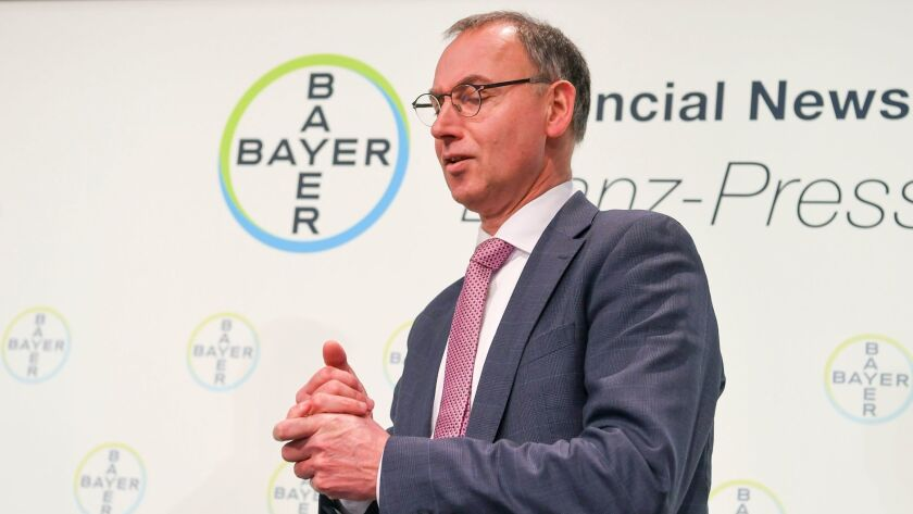 Werner Baumann is CEO of German chemicals giant Bayer.