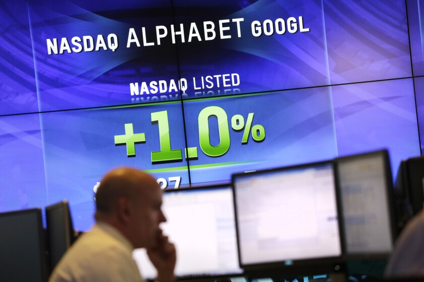 Shares of Alphabet, Google's holding company, closed regular trading Monday at $752, up about 1.2%, or $9.