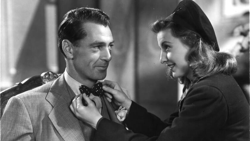"Gary Cooper and Barbara Stanwyck in ""Meet John Doe."""