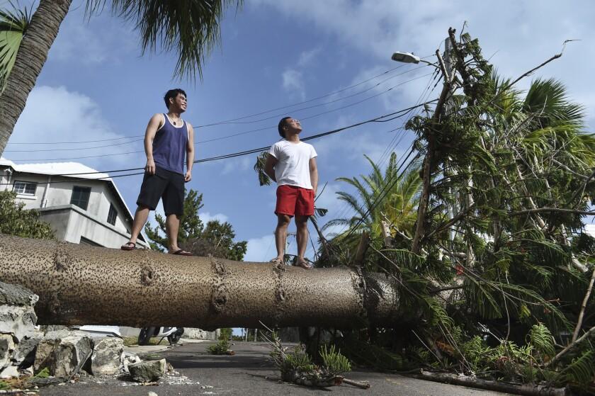 APTOPIX Bermuda Tropical Weather