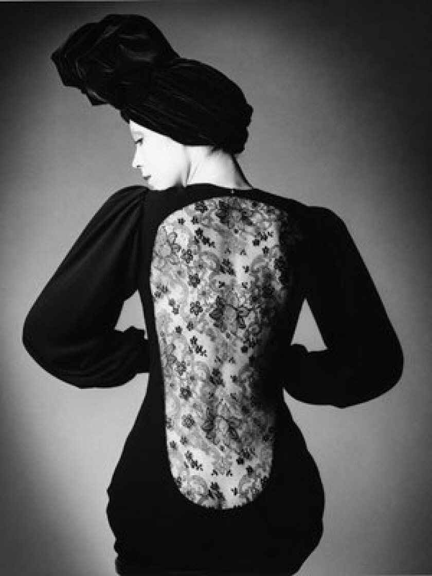 LOOKING BACK: Yves Saint Laurent's designs walked the line between clothing and fine art. Here, a 1970 evening gown.