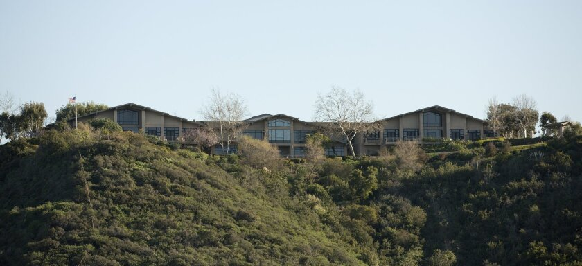 San Diego Hospice sits on a bluff high above Mission Valley with views all the way to the ocean on a clear day.