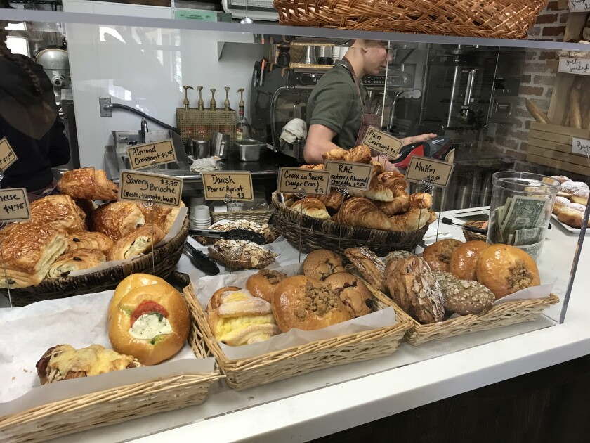 Sweet and savory pastries at The French Oven Bakery in Scripps Ranch.