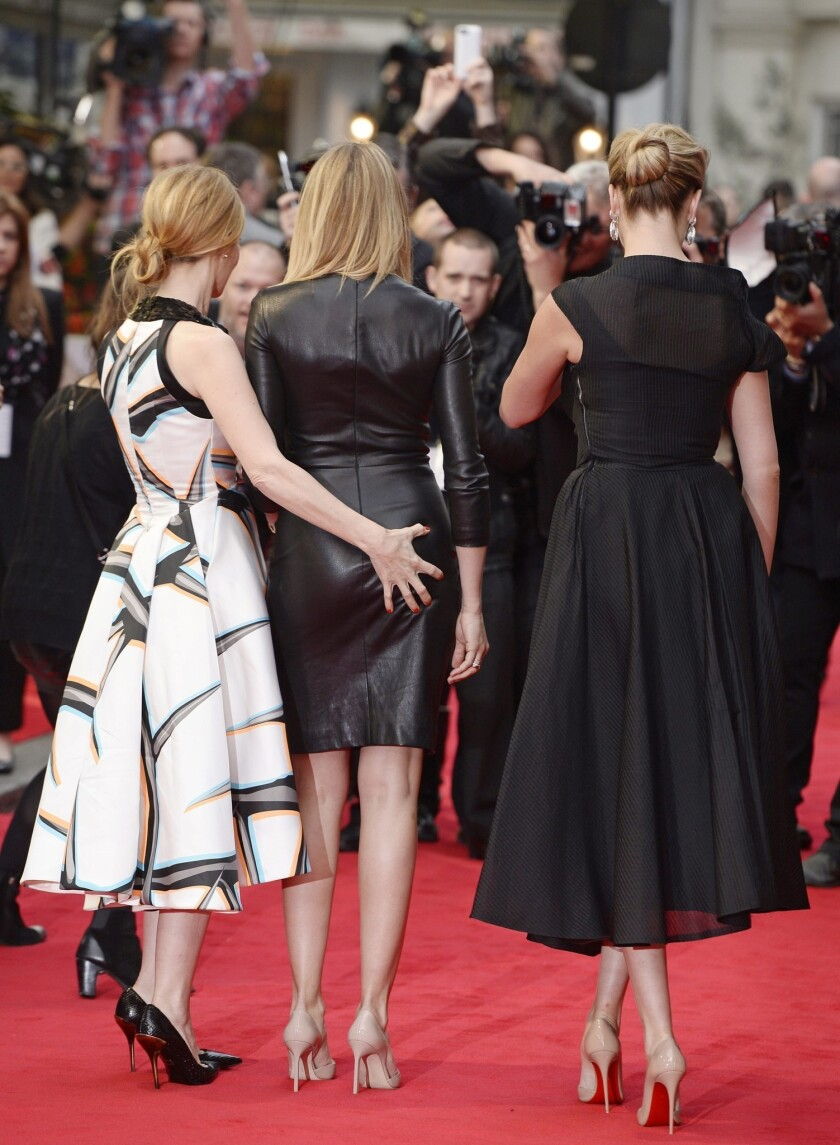 Kate Upton, Leslie Mann, Cameron Diaz at 'The Other Woman' London premiere