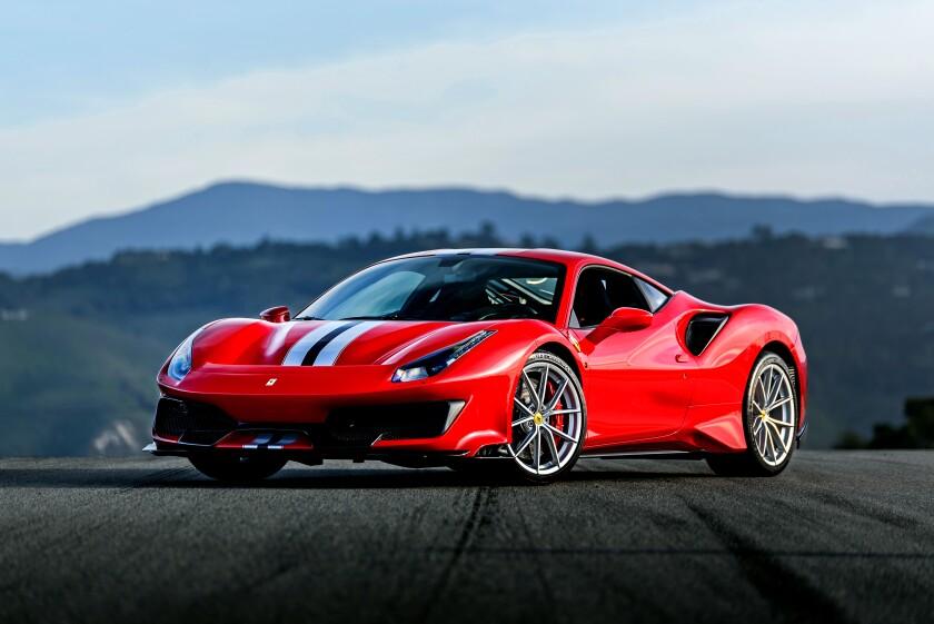 The Ferrari 488 Pista brings race-track performance to California freeways.