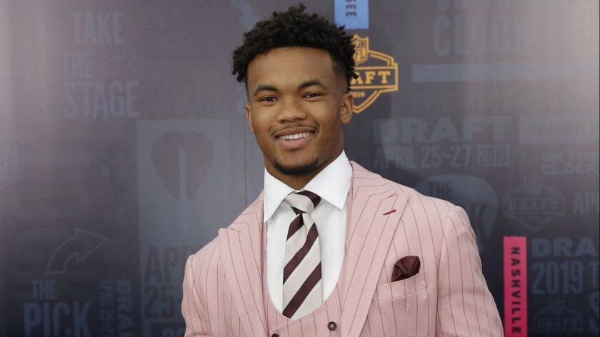 Oklahoma quarterback Kyler Murray walks the red carpet ahead of the first round at the NFL football