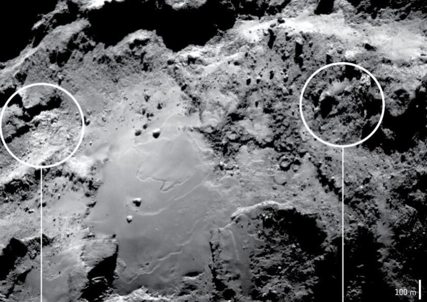 Water ice on 67P