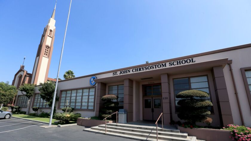 St. John Chrysostom Catholic School in Inglewood was one of four Catholic schools in Southern Califo