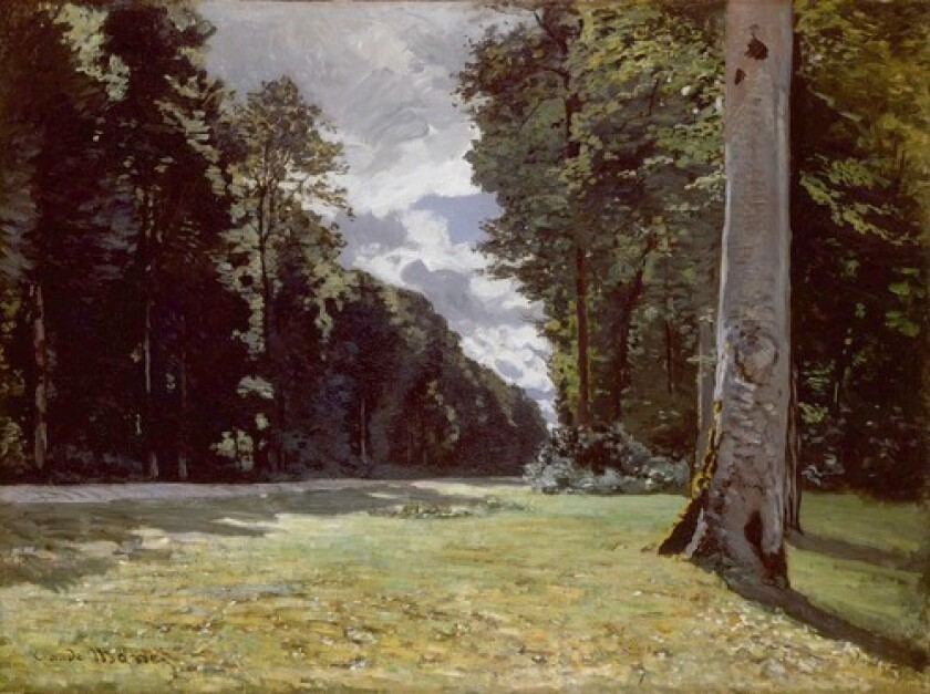 """BEYOND THE ARTIST: One of Claude Monet's lesser known pieces, """"The Route to Chailly,"""" is part of an exhibit by the National Gallery of Art that celebrates a place, rather than a painter."""