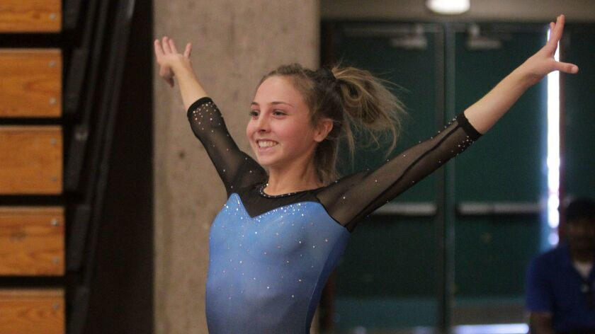 Tessa Anderson won her second straight optional all-around title for West Hills.